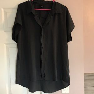 2/$10 Mossimo Dark Gray Blouse